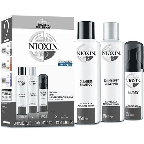 Nioxin 2 Kit 300 Ml Sistema 2 Para Caida Del Cabello