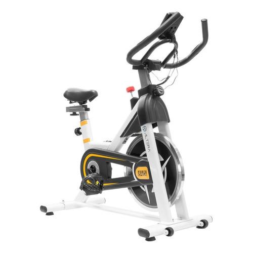 Bicicleta fija Altera Spal ALT550-6 para spinning blanca y amarilla