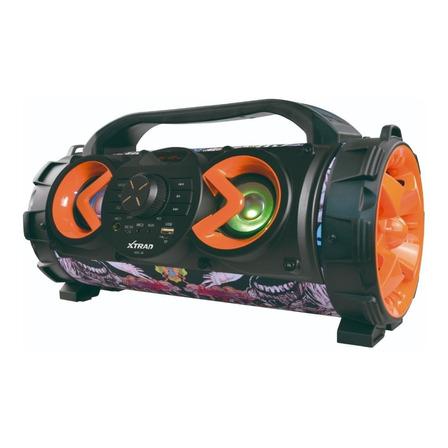 Caixa de som Xtrad Super Basuka portátil com bluetooth  multicolor 110V/220V