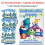 Monster University Cumpleaños 25 Invitaciones Personalizadas