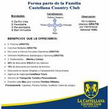 Membresía La Castellana Country Club San Cristóbal