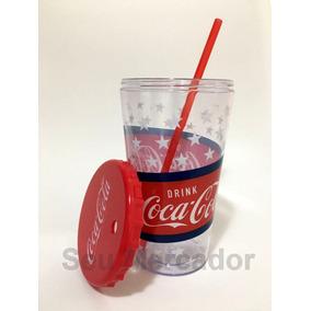 Copo De Coca-cola Oficial Com Canudo Tampa Para Colecionador