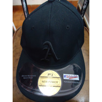 Gorra Negra A Atleticoss Cerrada New Power Talla 7 1/8