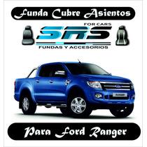 Funda Cubre Asientos Cuero Eco P/ford Ranger Cabina Simple