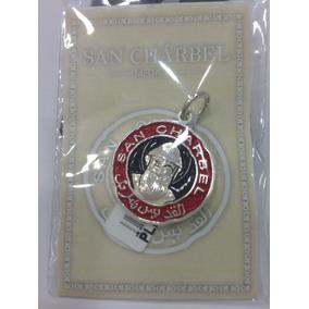Medalla De San Charbel Plata Ley 925 Esmaltada