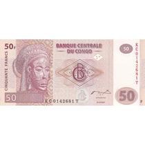 Congo 2007 Billete De 50 Francos Pick 97 Sin Circular