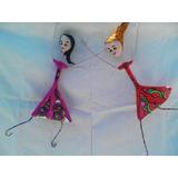 Muñecas Colgantes En Papel Maché, Cartapesta Y Alambre