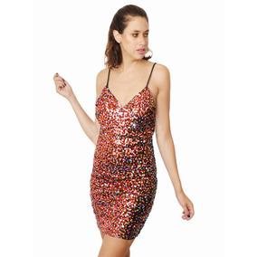 Vestido Lentejuelas Espalda Descubierta, Brishka M-0037