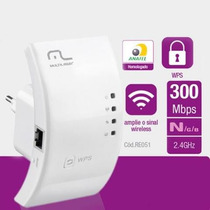 Repetidor Wireless Sinal Wifi 300 Mbps | Multilaser Re051