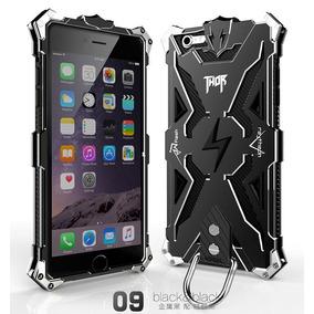 Hybrid Bumper Case Protector Metal Goma Iphone 6 6s Negro