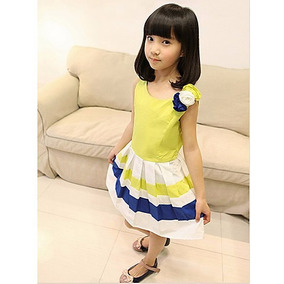 Vestido Niña Amarillo Moda Asiática