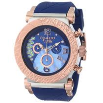 Reloj Mulco Bluemarine Acero Silicón Azul Mujer Mw52388043