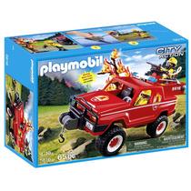 Playmobil 5616 - Carro De Bombeiros Com Bomba D