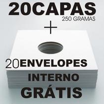 Capa Para Disco De Vinil Lp Djs 12 (20brancas+envelope Inter