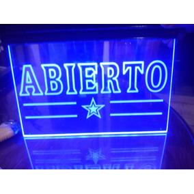 Letrero-anuncio Luminoso Led Abierto Personalizados Nuevos