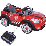 Carro Mini Cooper Elétrico Até 30kg Faróis Verm. Belfix 9123
