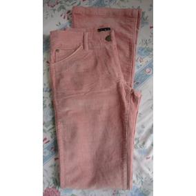 Pantalón Dama Rosa. Algodon Y Spandex. Talle 42