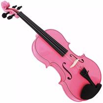 Violino Rosa 4/4 Jahnke Com Case Arco E Breu