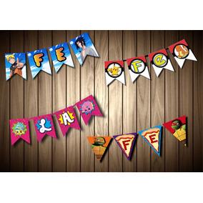 Letrero Cumpleaños Digital Personalizado Cualquier Personaje