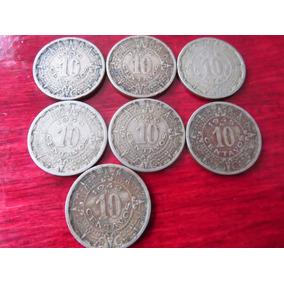 Moneda 10 Centavos 1936 1937 1939 1940 1942 1945 1946 Lote 7