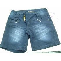 Bermuda Curta Jeans Feminina Lycra Tamanhos Grandes