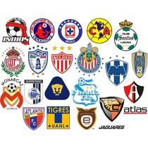Escudos Futbol Mexicano Paquete Archivos P Bordado Ponchados