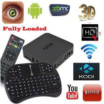 Tv Box Android 4.4 Quand Core Mxq + Mini Teclado Sem Fio I8