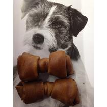 Hueso De Carnaza Sabor Carne De 4-5 P/perro (20pzas)