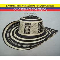 Sombrero Vueltiao Colombiano Con Remate Posterior Daa