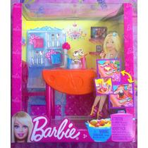 Set De Comedor Muebles Y Accesorios Para Barbie
