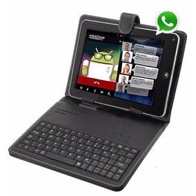 Tablet Função Celular 2 Chip Interno Até 32gb + Teclado