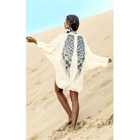 Blusa Tipo Kimono Blanca Con Alas Importada Usa Xl