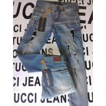 Jeans Tucci Con Roturas