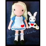 Muñeca Alicia En El País De Las Maravillas Artesanal Crochet