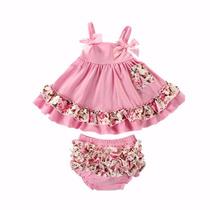 Conjunto De Bebê Vestido E Calcinha Fashion. Pronta Entrega
