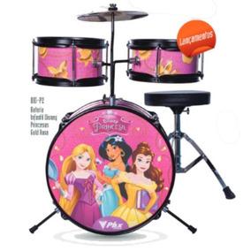 Bateria Infantil Bid-p2 Princesas Gold 3pçs 14 Phx Disney