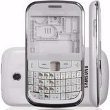 Aro Carcaça + Tampa Traseira Samsung S3350 Ch@t Branco