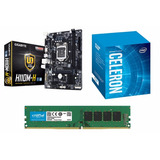 Combo Actualizacion Pc Intel G3930 + Mother H110 + 4gb Dr4