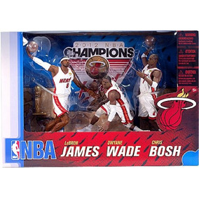 Lebron James Wade Bosh Big 3 Miami Heat Nba Mcfarlane