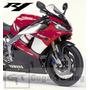Jg Adesivo Yamaha R1 2001 Moto Vermelha Material Importado