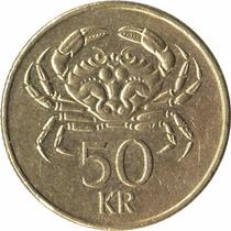 Moeda Da Islandia 50 Krona Datas Variadas Mbc 23 Mm