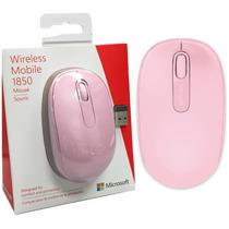 Mouse Raton Microsoft Inalambrico Modelo 1850 Rosa Wireless