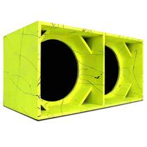 Caixa Euclides Canhao Dupla Vazia Para Af Subwoofer 15 Ve