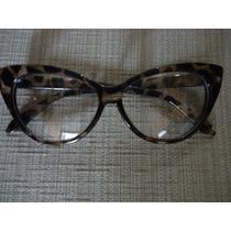 Oculos Olhos De Gato Vintage Leopardo