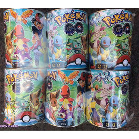 6 Alcancías Grandes Pokemon Go Pikachu Fiesta Bolo Recuerdo