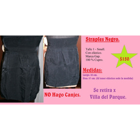 Strapless Negro. Talle 1 - Small. Marca Gap.