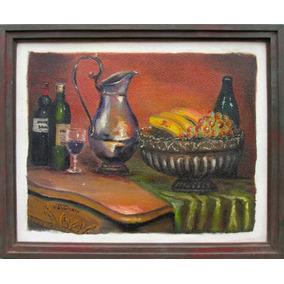 Quadro- Jarro E Frutas- Ose. 44.5x55 Cm V.salustriany