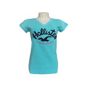 Camisetas Femininas Hollister Super Barata
