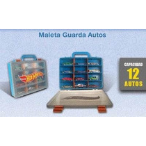 Hot Wheels Valija Maleta Guarda Autos 12 Unidades