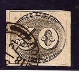Selo 01-olho De Boi 30 Reis,,sem, Aminci-carimbado